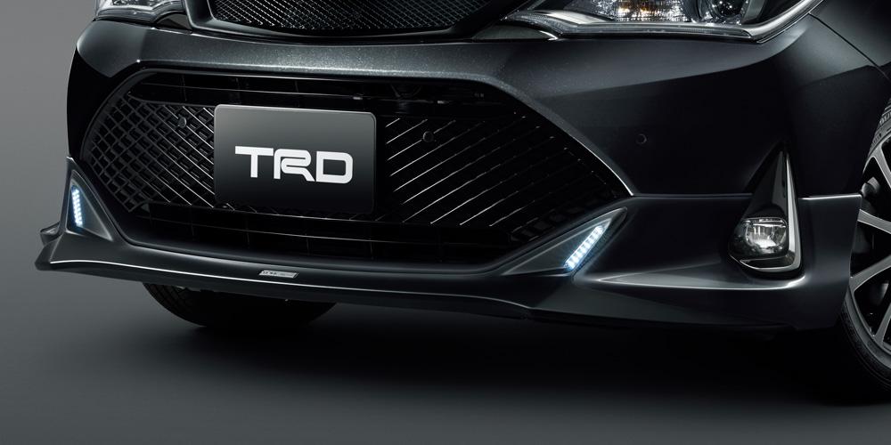 ティーアールディー カローラ アクシオ 160 系 格安 フロントスポイラー 未塗装 エアロパーツ LED付 配送先条件有り MS341-12042-NP 出群 TRD