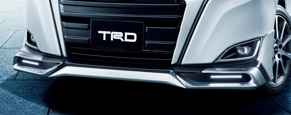 TRD ノア 80 系 フロントスポイラー LED付 未塗装 MS341-28039-NP 配送先条件有り