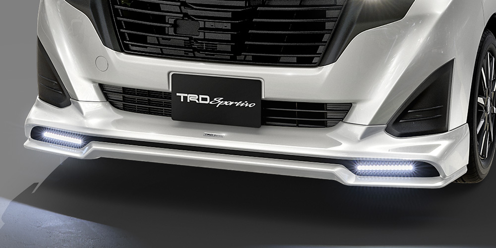 TRD ルーミー 900系 フロントスポイラー LED付 未塗装 MS341-B1009-NP 配送先条件有り