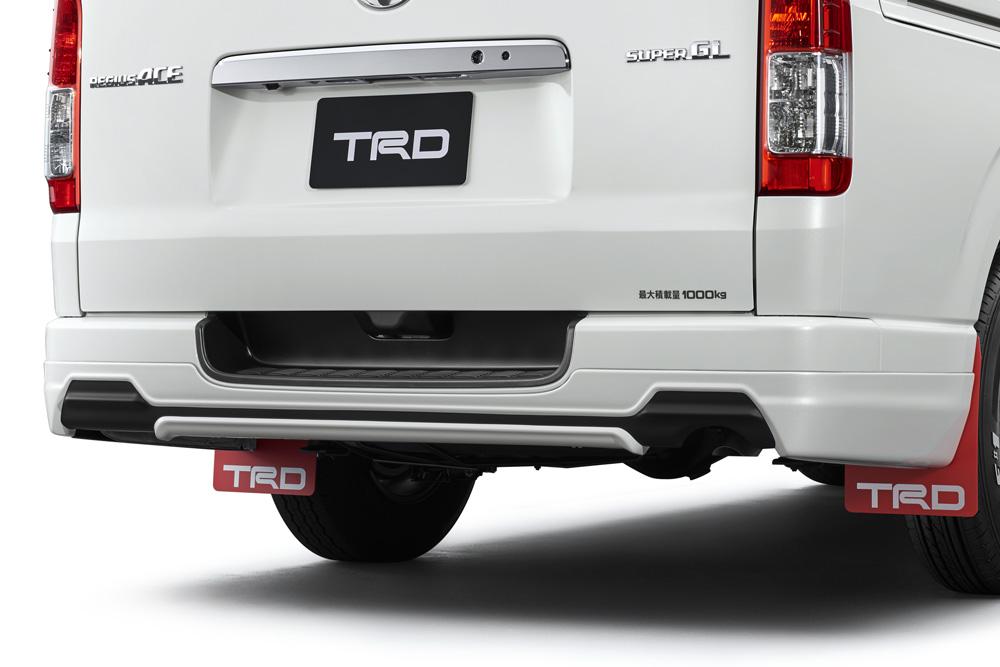 TRD レジアスエース 200系 KDH200 211 220/GDH200 211 220/TRH200 210 220 リヤバンパースポイラー 塗装済 MS313-26001 配送先条件有り