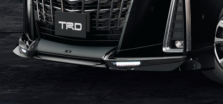 TRD アルファード エアロボディ フロントスポイラー LED付 未塗装 3#系 AGH30W AGH35W GGH30W GGH35W AYH30W T-Connect SDナビゲーションシステム、デジタルインナーミラー付車、除くパノラミックビューモニター付車 MS341-58032-NP