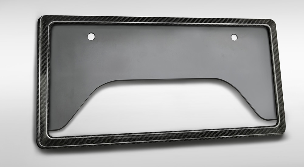 TRD ヴィッツ 130 系 GRカーボンナンバーフレーム フロント用 MS371-00001 配送先条件有り