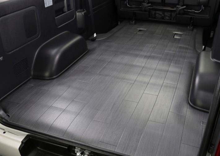 ユーアイビークル ハイエース 200系 バン 標準 ナロー/ワイド CFカーゴマット ミドルタイプ グレー木目柄 1.8厚 UI-vehicle ユーアイ