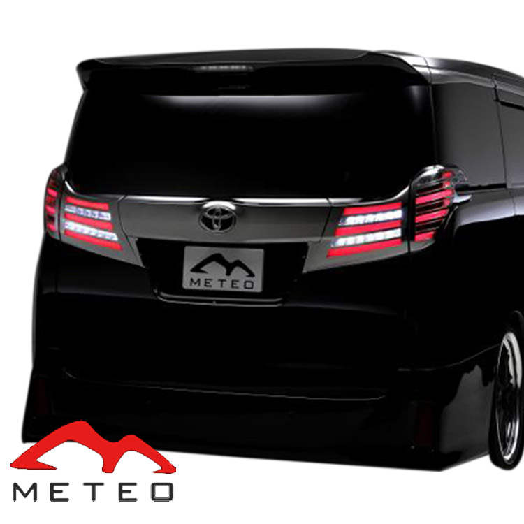 METEO メテオ アルファード アルファードハイブリッド 30系 LEDテール スモークテール メッキカバー TY-AL30-S-CAC