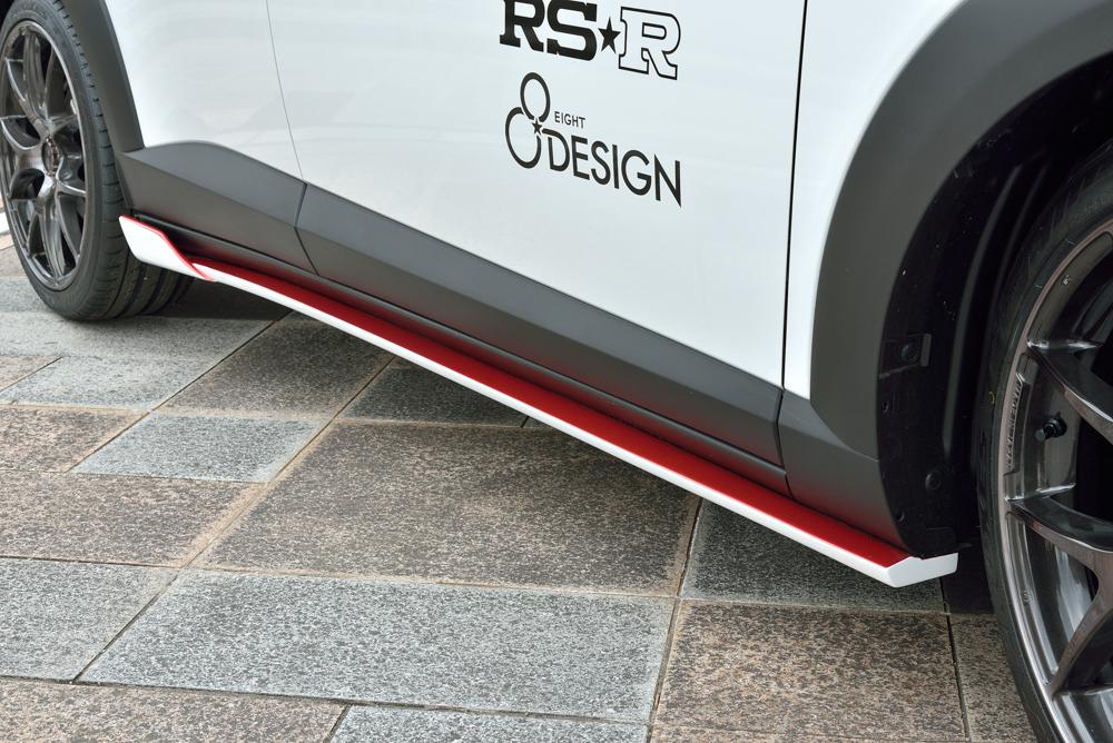EIGHT DESIGN サイドスポイラー 未塗装 CX-3 DK5FW/DK5AW エイトデザイン