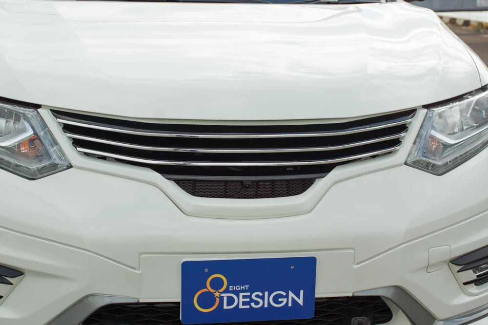 EIGHT DESIGN フロントグリル カメラ対応 未塗装 エクストレイル T32 エイトデザイン