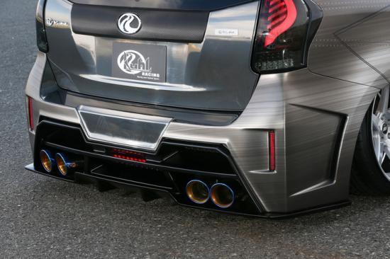 KUHL RACING プリウスα アルファ ZVW40 後期 リアフローティングディフューザー HG 塗装済み 40R-GT 40RGT クール レーシング