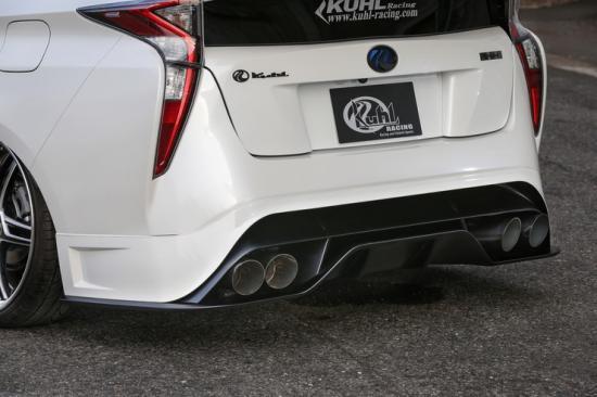 KUHL RACING プリウス ZVW50系 リアハーフスポイラー レギュラータイプ 塗装済 ハイブリッド クール レーシング