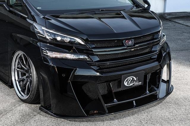 KUHL RACING ヴェルファイア 30系 フロントコーナーセンサーアタッチメント SG 塗り分け塗装 30V-GT クール レーシング