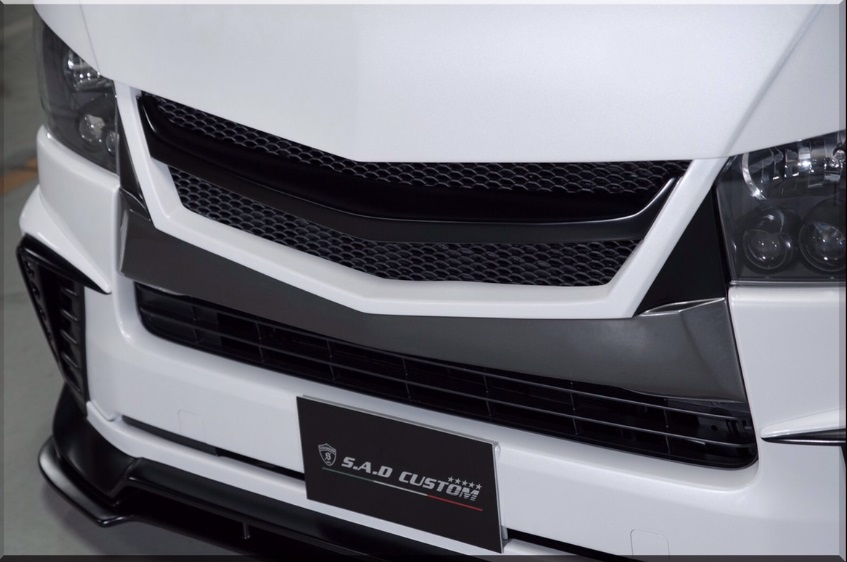 S A D カスタムジャパン ハイエース 200系 4型 標準 ナロー ユーログリル S.A.D CUSTOM JAPAN AGENT エージェント