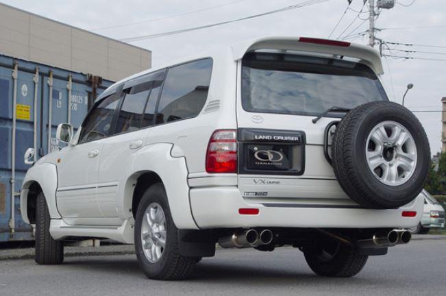 ガナドール ランクル ランドクルーザー 100系 KG KR-HDJ101K GD-091 マフラー GANADOR バーテックス 4WD SUV Vertex 4WD SUV 配送先条件有り