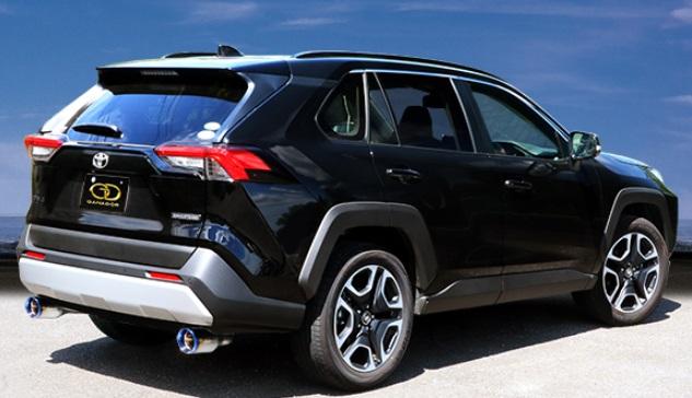ガナドール RAV4 6BA-MXAA54 マフラー 左右出し リヤピース GVE-042BL GANADOR Vertex 4WD SUV バーテックス 4WD SUV 配送先条件有り