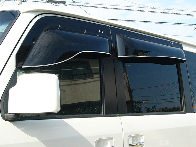 ZOO PROJECT ズープロジェクト NV100クリッパー DR64V 手動格納ミラー車専用 オックスバイザー ブラッキーテン リア用 BLR-57