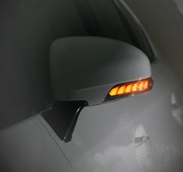 AVEST Vertical Arrow パッソ KGC30 35系 Type Zs LED 流れるドアミラーウィンカーレンズ インナーブロンズゴールドxランプホワイト AV-010-W-P アベスト