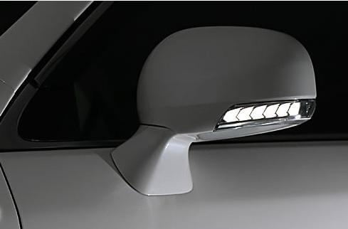 AVEST Vertical Arrow クラウンロイヤル 200系 GRS200 GRS201系 Type Zs LED 流れるドアミラーウィンカーレンズ シルバーxランプホワイト AV-010-W アベスト