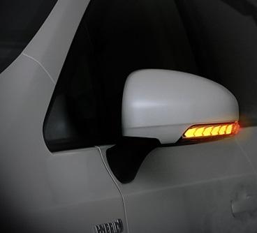 AVEST Vertical Arrow プリウス 30系 ZVW30 Type Zs LED 流れるドアミラーウィンカーレンズ インナーブロンズゴールドxランプホワイト AV-010-W-P アベスト