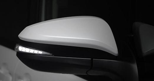 AVEST Vertical Arrow エスクァイア ZRR8# ZWR8# Type Zs LED 流れるドアミラーウィンカーレンズ インナーシルバーxランプホワイト AV-015-W アベスト