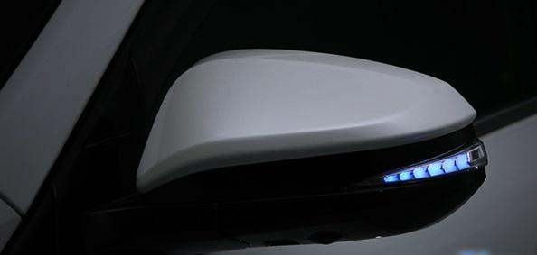 AVEST Vertical Arrow エスクァイア ZRR8# ZWR8# Type Zs LED 流れるドアミラーウィンカーレンズ インナーシルバーxランプブルー AV-015-B アベスト