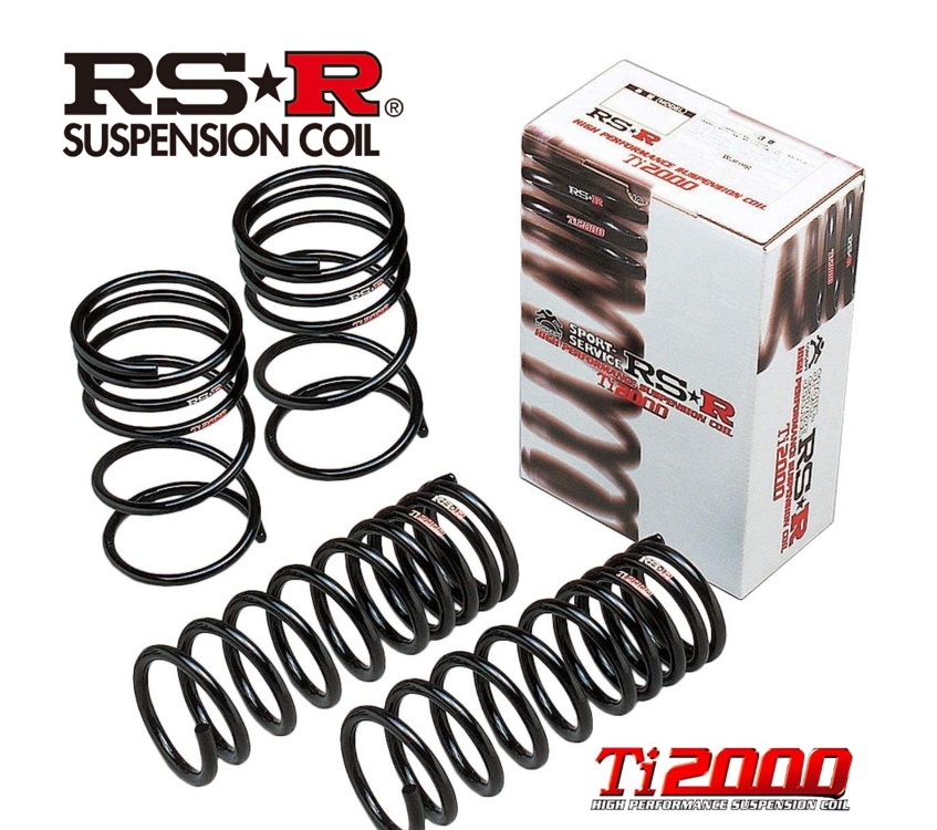 RS-R カローラツーリング ZWE214W ハイブリッド ダブルバイビー ダウンサス スプリング フロント T585TDF Ti2000 ダウン RSR 個人宅発送追金有
