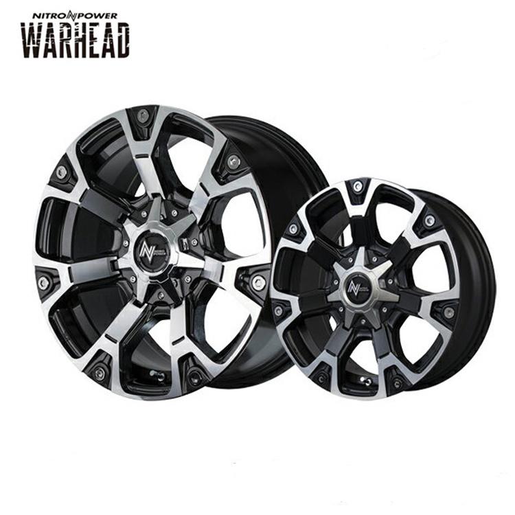 WARHEAD ホイール 4 本 18インチ 8.0J+20 6H139.7 6穴 ダークガンメタ ミラーカット/セミグロスブラック ハーフポリッシュ NITRO POWER ウォーヘッド