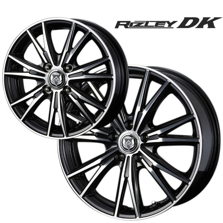 RIZLEY DK ホイール 4 本 15インチ 5.5J+42 4H100 4穴 ブラックメタリック ポリッシュ WEDS ADVENTURE ライツレーDK