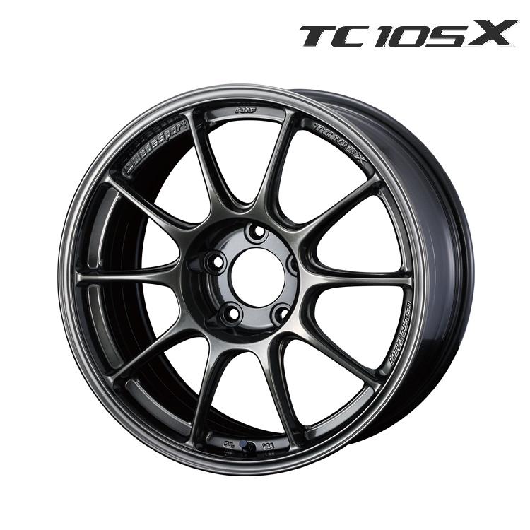 WedsSport TC105X ホイール 4 本 17インチ 8.5J+43 5H100 5穴 EJ-TITAN weds ウェッズスポーツ・TC105X