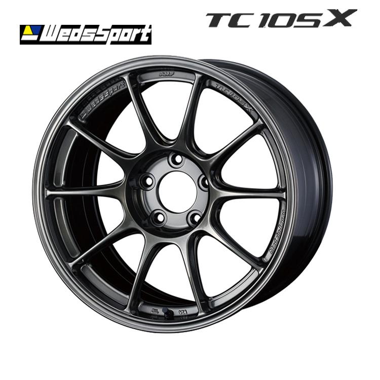 17インチ 7.5J+30 4H100 4穴 WedsSport TC105X ホイール 1 本 EJ-TITAN weds ウェッズスポーツ・TC105X