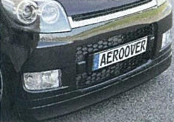 K-FACTORY AEROOVER ムーヴカスタム L175S/L185S 前期用 フロントハーフスポイラー FRP製 未塗装 エアロオーバー ケーファクトリー 配送先条件有り