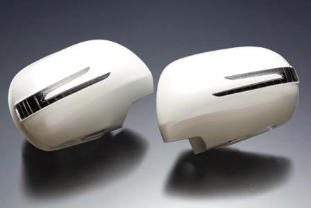 BRASSEN ブラッセン エスティマ ACR50W/55W/GSR50W/55W スタイリッシュウィンカーミラーキット 純正ブラック/純正パールホワイト