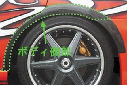 CHARGESPEED チャージスピード 撃速CHARGE SPEED インプレッサ GD# A~G型 リアオーバーフェンダーボディ側部 カーボン