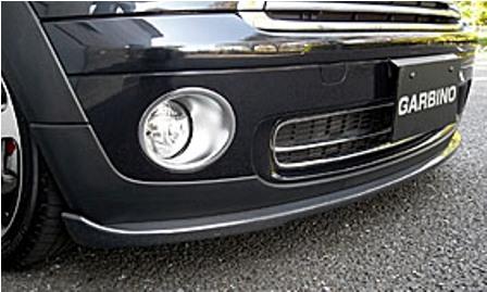 ガルビノ ミニ R56 クーパーONE フロントリップスポイラー カーボン製 GARBINO