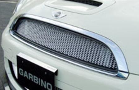 ガルビノ ミニ R56 クーパーS フロントグリル 本体(枠):FRP製素地/ネット:アルミ製素地 GARBINO
