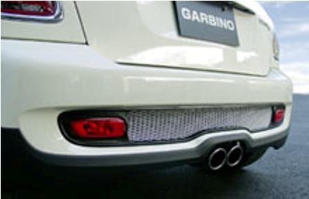 ガルビノ ミニ R56 クーパーS リアダクトガーニッシュ グリル本体(枠):FRP製素地/ネット:アルミ製素地 GARBINO