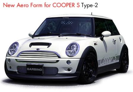 ガルビノ ミニ R53 クーパーS フロントハーフスポイラー FRP製 GARBINO