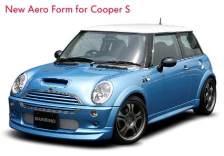 ガルビノ ミニ R50 クーパーS フロントハーフスポイラー FRP製 GARBINO