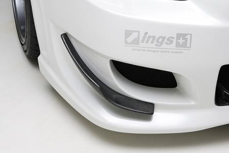 激安価格と即納で通信販売 ings イングス N-SPEC エヌスペック ランエボ 10 エアロパーツ ランサーエボリューション10 個人宅発送追金有 Seasonal Wrap入荷 FRP フロントカナード CZ4A