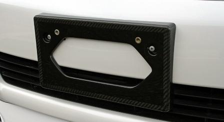 LXモード レクサス LS600hL 600h 中期 カーボンフロントライセンスプレートベース クリアー塗装仕上げ LX-MODE