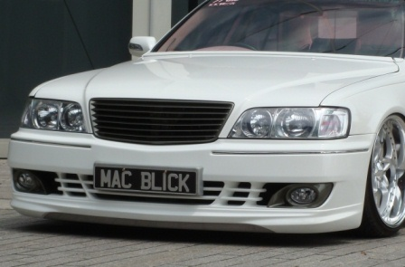mac マック シーマ Y33 フロントバンパースポイラー FRP+カーボン ボースト BOAST