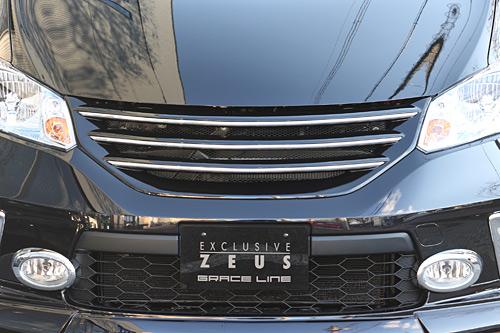 M'z SPEED エムズスピード フロントグリル 未塗装 フリード GB3・4/GP3 中期 Gエアロ/ハイブリッド エクスクルーシブ ゼウス ZEUS グレースライン 3181-4132