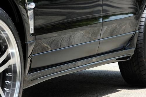 エムズスピード キャデラック SRXクロスオーバー サイドステップ 未塗装 2251-2112 ラヴライン ゼウス