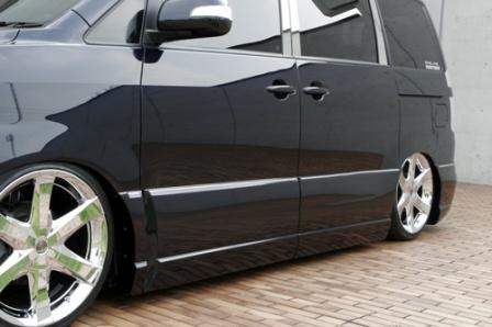 エムズスピード ヴォクシー AZR60系 後期 サイドステップ+サイドパネル 未塗装 4051-2131 エグゼライン ゼウス