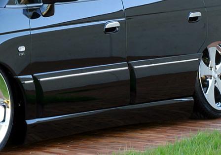 エムズスピード オデッセイ RA6 RA7 サイドステップ+サイドドアパネル 未塗装 4091-2131 エグゼライン ゼウス