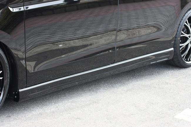 エムズスピード ステップワゴン RK1 2 後期 サイドステップ 塗装済 3122-2142 グレースライン ゼウス