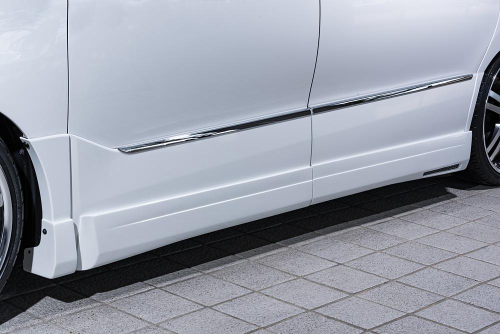 エムズスピード エスティマ エスティマハイブリッド ACR50系 AHR20 最終型 サイドステップ 未塗装 3062-2151 グレースライン ゼウス