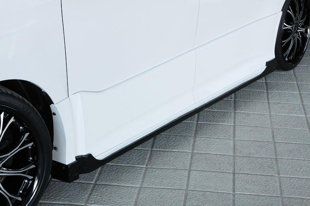 エムズスピード ヴォクシー ヴォクシーハイブリッド VOXY ZRR80W ZWR80W 後期 サイドステップ 塗分け塗装済み 3173-2111-222 グレースライン ゼウス
