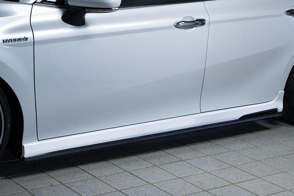 エムズスピード カムリ AXVH70 サイドステップ 2色塗り分け塗装済 6551-2113-222 プルシャンブルー ゼウス