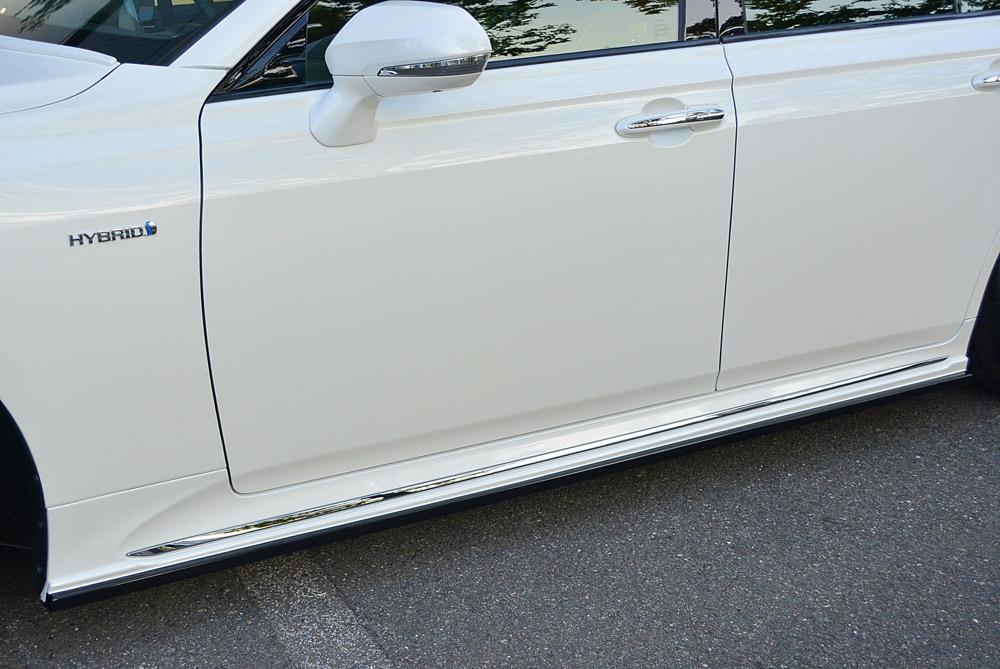 エムズスピード クラウン GWS224 AZSH2# ARS220 サイドステップ 2色塗り分け塗装済 6482-2111-222 プルシャンブルー ゼウス