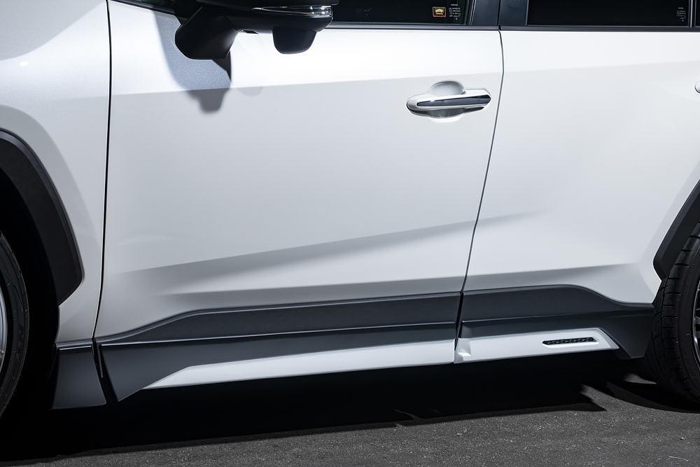 エムズスピード RAV4 MXAA54 AXAH54 アドベンチャー除く サイドステップ ABS 2色塗り分け塗装済 2411-2110-222 ラヴライン ゼウス