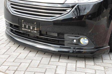 M'z SPEED エムズスピード フロントハーフスポイラー 塗装済 ステップワゴン RG1/2 後期 エクスクルーシブ ゼウス ZEUS グレースライン 3121-1132