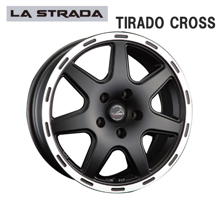 17インチ 5H127 7.5J+44 5穴 TIRADO CROSS 輸入車 ホイール 1本 ブラックリムポリッシュ LA STRADA ティラードクロス